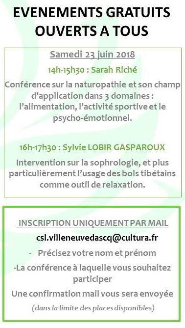 conférence naturopathie samedi 23 juin